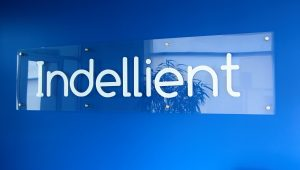 Indellient office sign in new office location