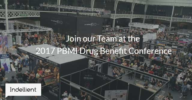 Overhead image of the showroom floor during the 2017 PBMI Drug Benefit Conference