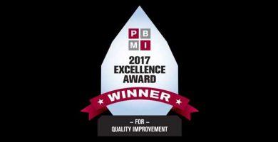 PBMI Excellence Award winner for 2017 logo
