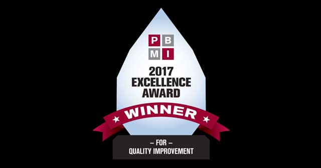 PBMI Excellence Award winner for 2017 logo