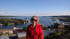 Doris takes in the views on her trip to Yellowknife on Indellient business.