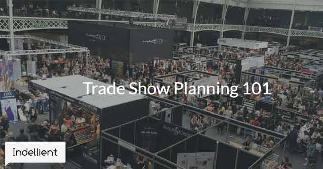 Aerial photo of a trade show floor