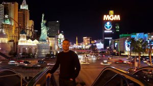 Here's Evan at an IBM conference in Las Vegas.