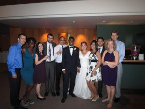The Indellient family celebrating Damith & Valerie's wedding.