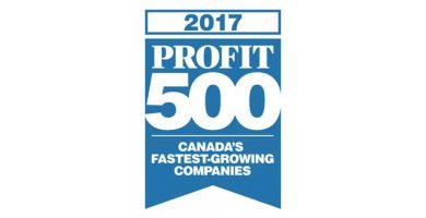 Logo for the Profit 500 award for 2017