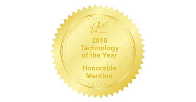 Logo for the Xplor Techonology of the year 2018 award