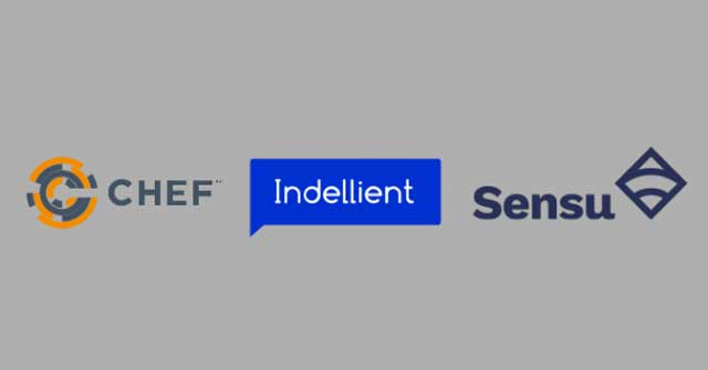 Image with the Chef, Indellient, and Sensu logos