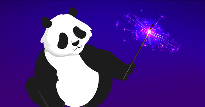 Panda Playing with a sparkler