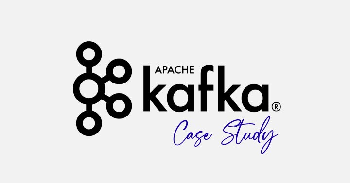 Blog image with the Apache Kafka Logo saying case study