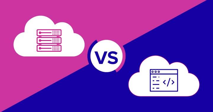 Two clouds SaaS vs IaaS