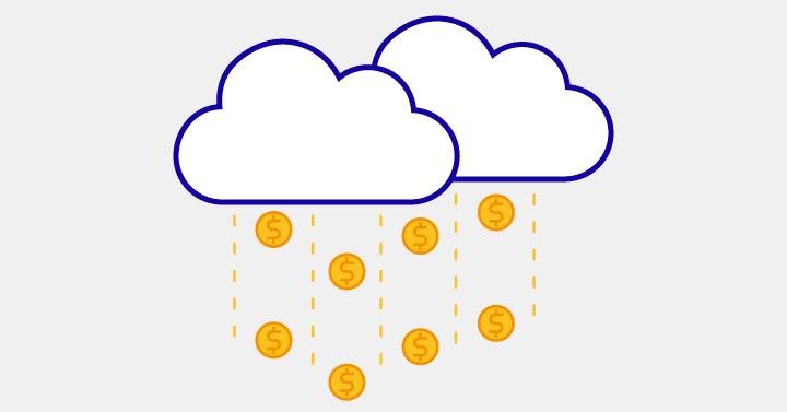 A Cloud raining Money