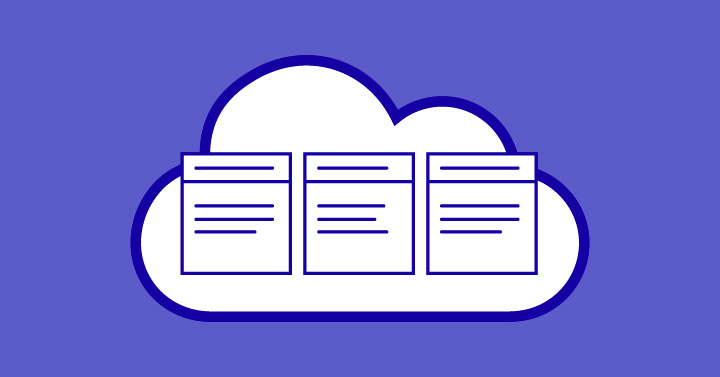 Image of cloud and data